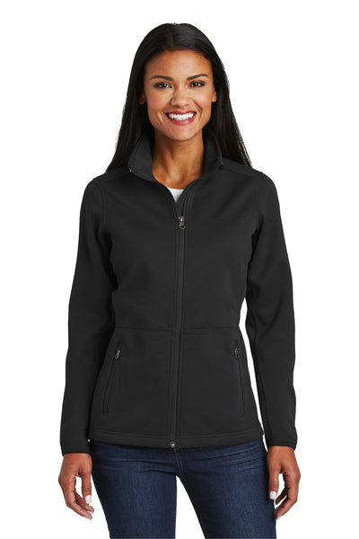 Port Authority L222 Womens Full Zip Fleece Jacket Black Front