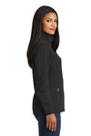 Port Authority L222 Womens Full Zip Fleece Jacket Black Side
