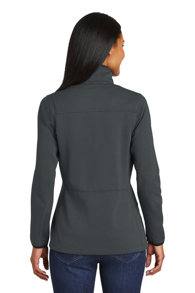 Port Authority L222 Womens Full Zip Fleece Jacket Graphite Grey Back