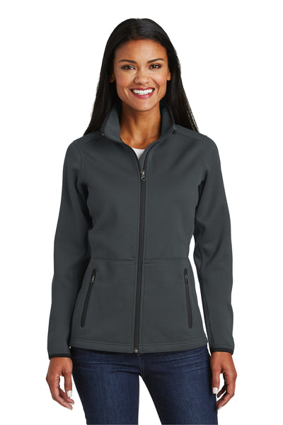 Port Authority L222 Womens Full Zip Fleece Jacket Graphite Grey Front
