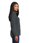 Port Authority L222 Womens Full Zip Fleece Jacket Graphite Grey Side