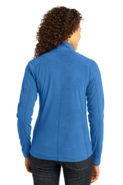 Port Authority L223 Womens Full Zip Microfleece Jacket Royal Blue Back