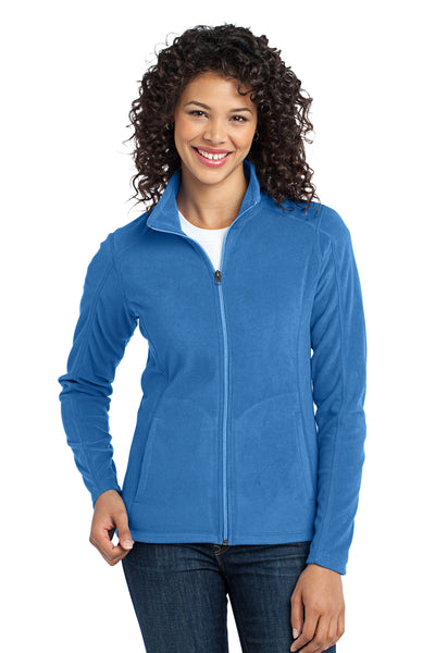 Port Authority L223 Womens Full Zip Microfleece Jacket Royal Blue Front
