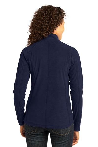 Port Authority L223 Womens Full Zip Microfleece Jacket Navy Blue Back