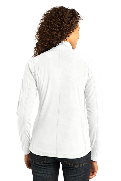 Port Authority L223 Womens Full Zip Microfleece Jacket White Back