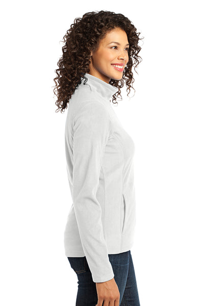 Port Authority L223 Womens Full Zip Microfleece Jacket White Side
