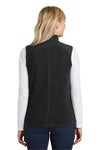 Port Authority L226 Womens Full Zip Microfleece Vest Black Back