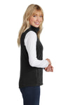 Port Authority L226 Womens Full Zip Microfleece Vest Black Side