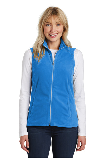 Port Authority L226 Womens Full Zip Microfleece Vest Royal Blue Front