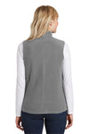 Port Authority L226 Womens Full Zip Microfleece Vest Grey Back