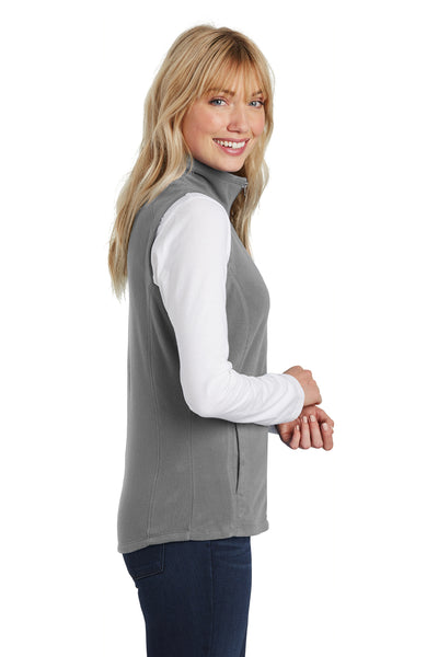 Port Authority L226 Womens Full Zip Microfleece Vest Grey Side