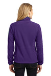 Port Authority L229 Womens Full Zip Fleece Jacket Purple/Grey Back