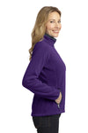 Port Authority L229 Womens Full Zip Fleece Jacket Purple/Grey Side