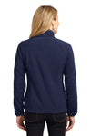 Port Authority L229 Womens Full Zip Fleece Jacket Navy Blue/Grey Back