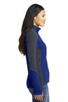 Port Authority L230 Womens Full Zip Microfleece Jacket Royal Blue/Grey Side