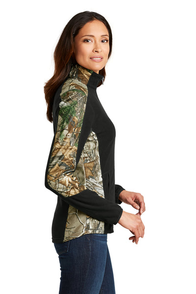Port Authority L230C Womens Full Zip Microfleece Jacket Realtree Xtra Camo Side