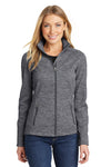 Port Authority L231 Womens Full Zip Fleece Jacket Black Front