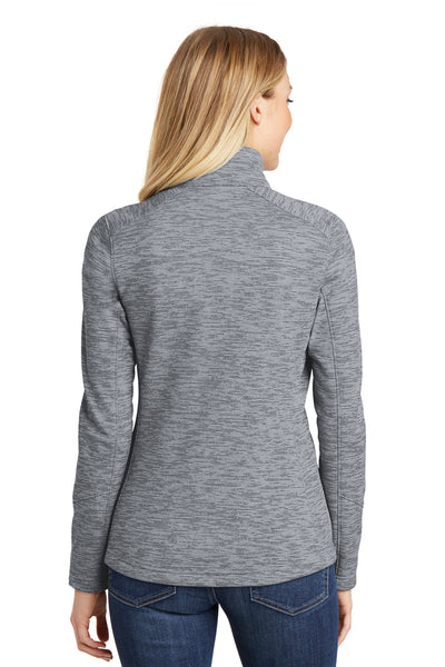 Port Authority L231 Womens Full Zip Fleece Jacket Grey Back