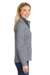 Port Authority L231 Womens Full Zip Fleece Jacket Grey Side