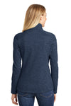 Port Authority L231 Womens Full Zip Fleece Jacket Navy Blue Back