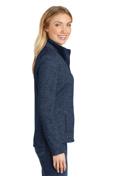 Port Authority L231 Womens Full Zip Fleece Jacket Navy Blue Side