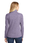 Port Authority L231 Womens Full Zip Fleece Jacket Purple Back