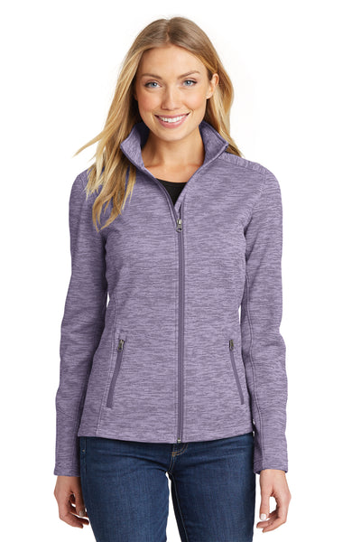 Port Authority L231 Womens Full Zip Fleece Jacket Purple Front
