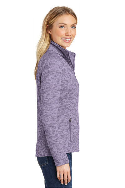 Port Authority L231 Womens Full Zip Fleece Jacket Purple Side