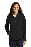 Port Authority L317 Womens Core Wind & Water Resistant Full Zip Jacket Black Front