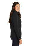 Port Authority L317 Womens Core Wind & Water Resistant Full Zip Jacket Black Side