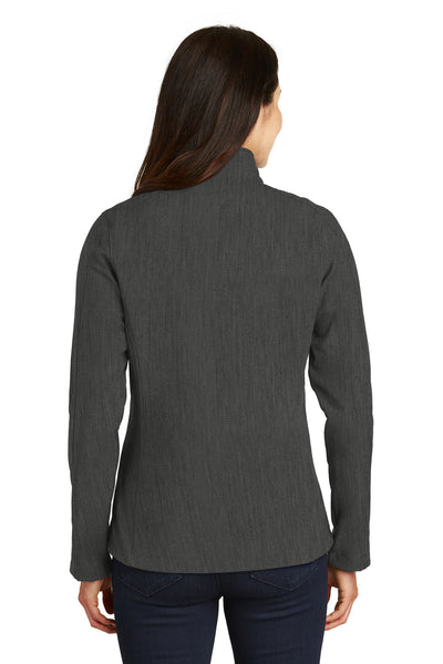 Port Authority L317 Womens Core Wind & Water Resistant Full Zip Jacket Heather Charcoal Grey Back