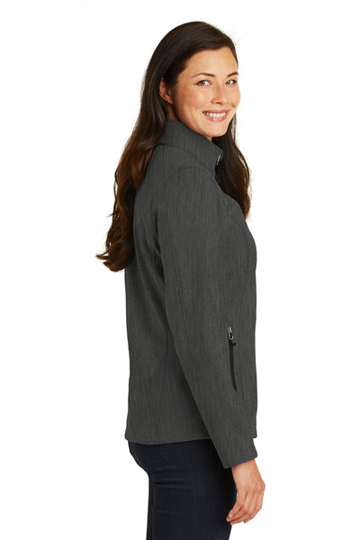 Port Authority L317 Womens Core Wind & Water Resistant Full Zip Jacket Heather Charcoal Grey Side