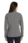 Port Authority L317 Womens Core Wind & Water Resistant Full Zip Jacket Smoke Grey Back