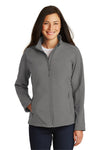 Port Authority L317 Womens Core Wind & Water Resistant Full Zip Jacket Smoke Grey Front