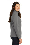 Port Authority L317 Womens Core Wind & Water Resistant Full Zip Jacket Smoke Grey Side
