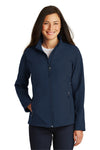 Port Authority L317 Womens Core Wind & Water Resistant Full Zip Jacket Navy Blue Front