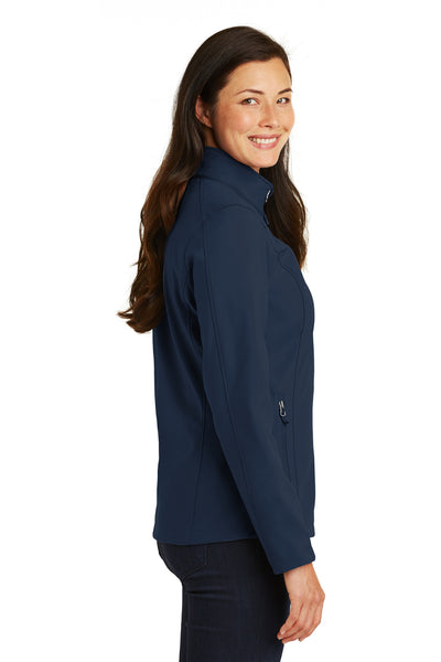 Port Authority L317 Womens Core Wind & Water Resistant Full Zip Jacket Navy Blue Side