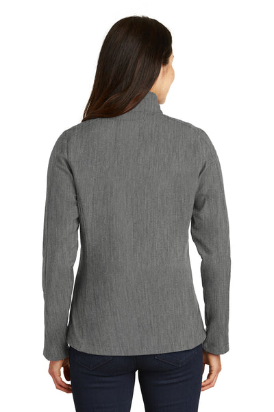 Port Authority L317 Womens Core Wind & Water Resistant Full Zip Jacket Heather Pearl Grey Back