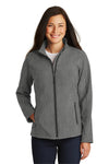 Port Authority L317 Womens Core Wind & Water Resistant Full Zip Jacket Heather Pearl Grey Front