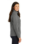 Port Authority L317 Womens Core Wind & Water Resistant Full Zip Jacket Heather Pearl Grey Side