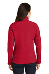 Port Authority L317 Womens Core Wind & Water Resistant Full Zip Jacket Red Back
