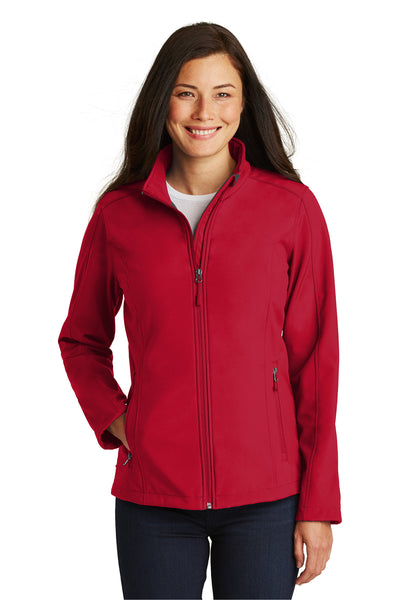 Port Authority L317 Womens Core Wind & Water Resistant Full Zip Jacket Red Front