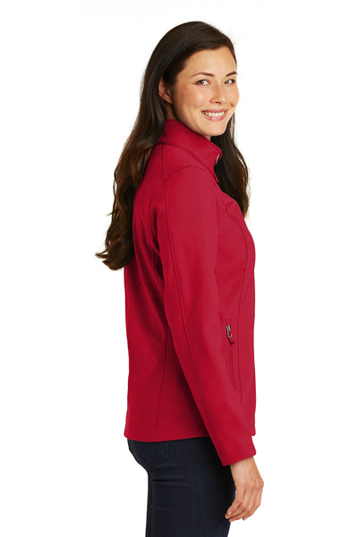 Port Authority L317 Womens Core Wind & Water Resistant Full Zip Jacket Red Side