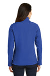 Port Authority L317 Womens Core Wind & Water Resistant Full Zip Jacket Royal Blue Back