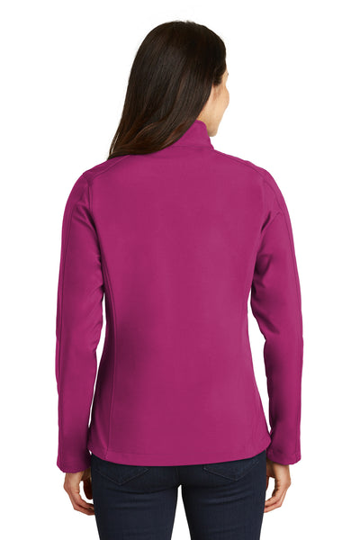 Port Authority L317 Womens Core Wind & Water Resistant Full Zip Jacket Berry Purple Back