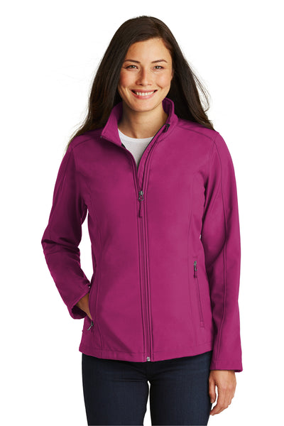 Port Authority L317 Womens Core Wind & Water Resistant Full Zip Jacket Berry Purple Front