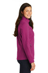 Port Authority L317 Womens Core Wind & Water Resistant Full Zip Jacket Berry Purple Side
