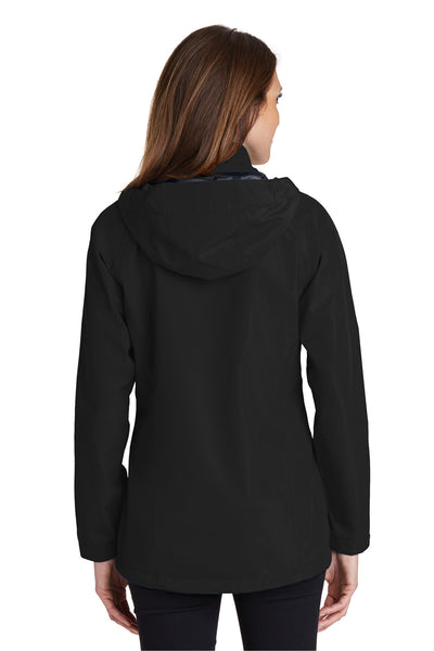 Port Authority L333 Womens Torrent Waterproof Full Zip Hooded Jacket Black Back