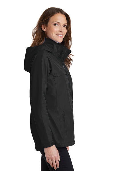 Port Authority L333 Womens Torrent Waterproof Full Zip Hooded Jacket Black Side