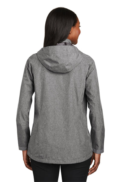 Port Authority L333 Womens Torrent Waterproof Full Zip Hooded Jacket Heather Dark Grey Back